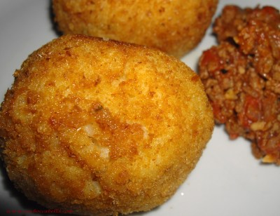 homemade arancini